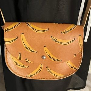 Zara girls banana crossbody bag